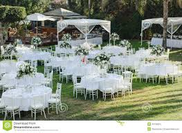 Pictures Of Backyard Wedding Receptions Outdoor Wedding Reception Wedding Decorations Stock Photo Image