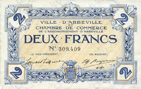 chambre de commerce abbeville banknotes emergency notes abbeville 80 ville et chambre de
