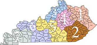 map of ky and surrounding areas counties extension