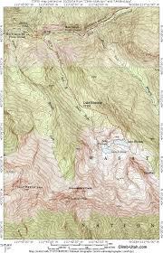 Twin Peaks Map Lake Blanche Big Cottonwood Canyon Hiking