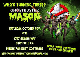 Kids Halloween Birthday Party Invitations by Party Invitations New Ghostbusters Party Invitations Design Ideas