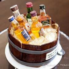 beer barrel cake birthday cake made out of mini liquor bottles image inspiration