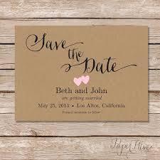 rustic save the date rustic save the date cards printable save the date kraft save