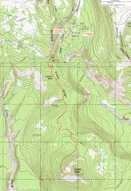 topographic map of the crater peak trail crater lake national