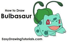 draw bulbasaur pokemon