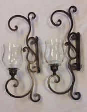 Tuscan Candle Wall Sconces Wrought Iron Tuscan Candle Holders U0026 Accessories Ebay