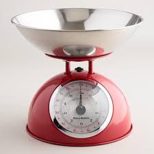 modern kitchen scales red vintage style metal kitchen scale world market