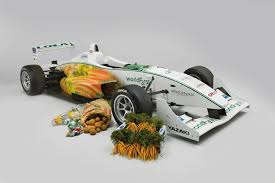 formula 3000 formula 3 racing car powered by chocolate and steered by carrots