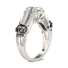 Skull Wedding Rings by White Sapphire Twist Wedding Ring Finding Wedding Ideas