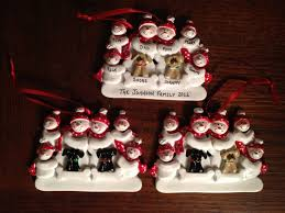 picture of snowman family christmas ornaments all can download