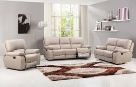 Beige Leather Living Room Set Beige Leather Recliner Sofa