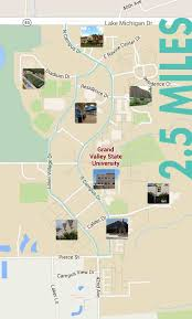 Michigan State Campus Map Biking And Walking Routes Health U0026 Wellness Grand Valley State