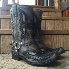 s boots store corral s black grey shaded eagle harness square toe boot