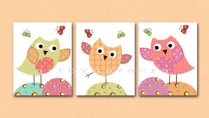 Kids Wall Art Owl Nursery Owl Decor Baby Nursery Decor Baby Boy