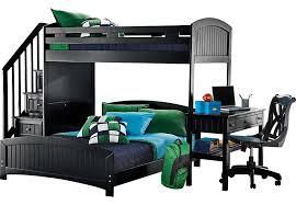 cottage colors black twin full step loft with desk bunk loft