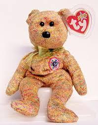 amazon 2000 ty beanie baby speckles bear born feb 17