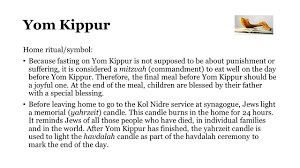 yom kippur at home the calendar ppt