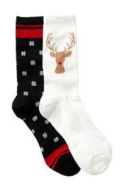 free press reindeer crew socks pack of 2 nordstrom rack
