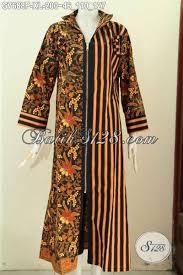 desain baju batik untuk acara resmi desain baju batik gamis wanita 2017 dengan resleting depan produk