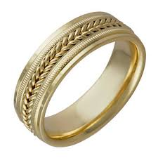 wedding ring depot 18k yellow gold coil braid band 7mm 3006071 shop at wedding