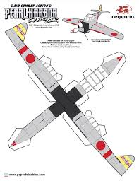 3d paper model airplanes print outs papertoys pearl harbor trilogy pearl harbor paper toys and template