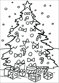 coloring page of christmas tree with presents coloring page christmas tree roboclicks info