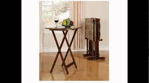 linon home decor tray table set faux marble brown linon home decor tray table set faux marble youtube
