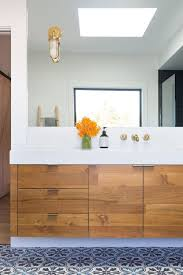 Mid Century Modern Bathroom Impressing Mid Century Modern With Vanity Flush Cabinets