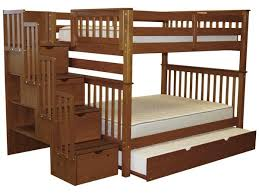Bunk Bed With Stairs And Trundle Bunk Beds Full Over Full Stairway Expresso Trundle 1075