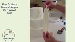 wedding cake tutorial how to do a fondant drape on a cake wedding cake tutorials cake