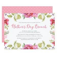 big hat brunch invitations sweet blossoms s day brunch invitation zazzle