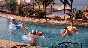 Backyard Pool With Lazy River Texas Man Transforms His Backyard Into A Waterpark With Four Pools