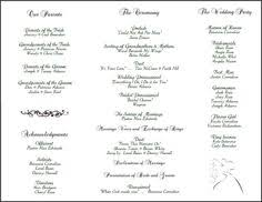 folded wedding program template 6 best images of tri fold printable wedding programs sle