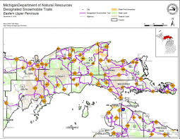 Map Of Upper Peninsula Michigan by Snowmobiling In Michigan Great Lakes Explorer