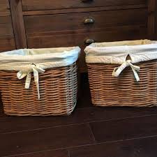 Pottery Barn Baskets With Liners Find More 2 Pottery Barn 12x12x9