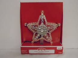 7 5 in multicolor lighted star transparent tree topper christmas