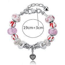 bracelet pandora murano images 925 silver plated murano glass charm bracelet swarovski pandora inspi jpg