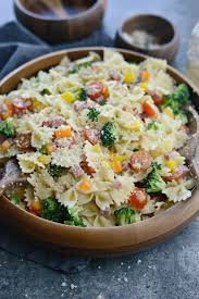 Cold Pasta Salad Dressing Simply Scratch Italian Bowtie Pasta Salad Simply Scratch