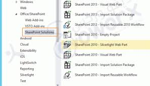 missing office sharepoint template in visual studio 2015