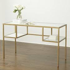 gold and white writing desk glass antique gold frame desk
