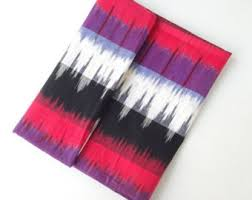 Purple Ikat Curtains Ikat Fabric Etsy
