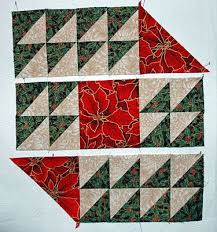 colorful table runner pattern
