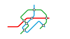 Metro Line Map by Illustrator Tutorial Lines With Rounded Corners Metro Subway Map