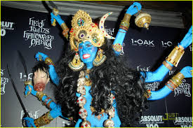 Halloween Heidi Klum by Heidi Klum Is A Blue Indian Goodess Photo 1523541 Heidi Klum