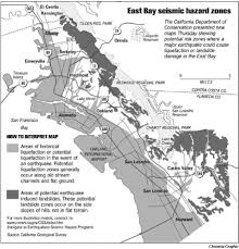 Seismic Risk Map Of The United States by Quake Maps Show Shaky East Bay Soil Risk Of U0027liquefaction U0027 In