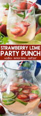 strawberry lime party punch crazy for crust