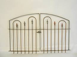 Wrought Iron Garden Swing by Wrought Iron Garden Gates Double Swing 3 U0027 T X 5 U0027 W