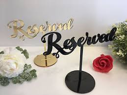 reserved signs for wedding tables reserved sign reception wedding table seating signs freestanding