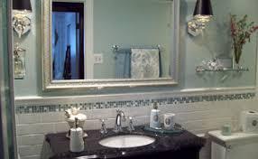 blue u0026 white bathroom makeover hometalk