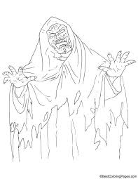 ghost color page halloween ghost coloring pages click to see